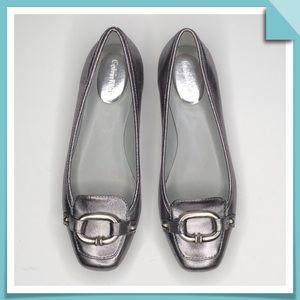 Calvin Klein Metallic Flats  Size 7.5